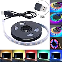 Strisce LED Luce di RGB 5050 LED Light Strip illuminazione con Cavo USB per PC Notebook Laptop TV Retroilluminazione, 100 CM 30 Leds - Libri Led Segno