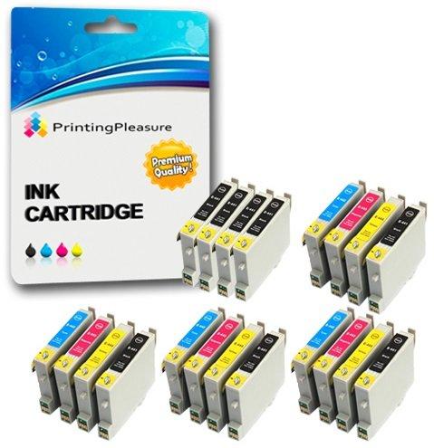 20 XL Compatibili Epson T0441-T0444 (T0445) Cartucce d'inchiostro per Stylus C64 C66 C68 C84 C84N C84WN C86 CX3600 CX3650 CX4600 CX6400 CX6600 - Nero/Ciano/Magenta/Giallo, Alta Capacità