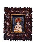 purpledip Jain Religiöse Gott parshvanath Statue: in Skulpturen Poly Harz für Home Tempel, Büro, Auto Armaturenbrett oder Shop Puja Regal | Jainismus Geschenk (10431)
