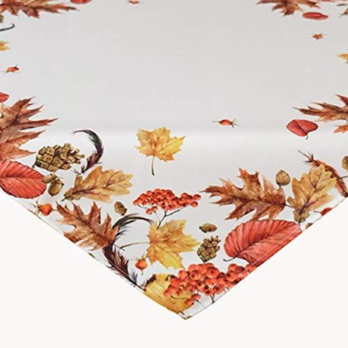 Raebel tovaglia 85 x 85 cm foglie autunnali crema bianco beige colorato stampa centrotavola autunno decorazione tavolo autunno