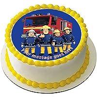 Fireman Sam - Decoración comestible para tarta (19 cm), ...