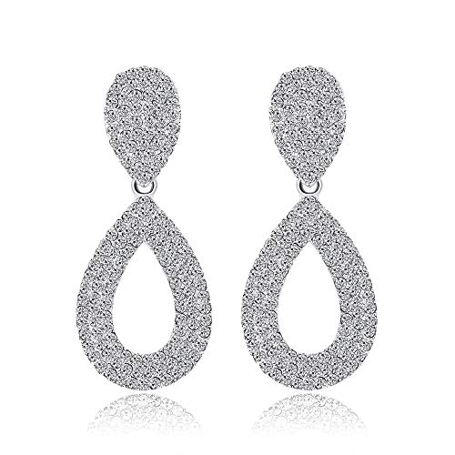 Blendend Weißen Kostüm - GLJIJID Ohrringe Einfache Atmosphäre, Exquisite Diamant Lange Ohrringe, Lassen Sie Sich In Der Menge Noch Blendend Weiß