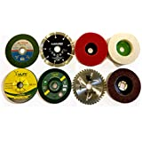 Aps 8 Piece Combo Set Of Grinding Wheel Angle Grinder Disc Cutting Polishing Buffing Wood Marble Stone Granite Steel Metal Plastic
