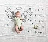 Manta mensual de hitos para bebés, 47 × 60 pulgadas Infantil Recién nacido Primer año Ala...