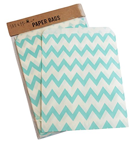 pack-of-25-party-sweet-chevron-zig-zag-bag-favour-birthday-gift-13x18cm-light-blue
