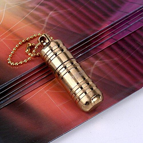 Das kleinste Kerosin-Feuerzeug der Welt - H&oumlhe: 2,5&nbspcm, &Phi 1,3&nbspcm - Kapsel-Feuerzeug, tragbar, aus Metall, Miniatur, Alltagsgegenstand, wasserdicht (Kraftstoff nicht im Lieferumfang enthalten) -, 621 Gold