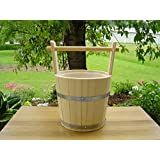 Spruce Wood Sauna Bucket 5Litres with Carry Handle and Plastic Insert by Achleitner