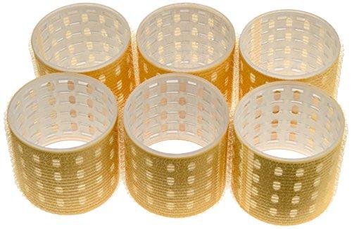 Fripac-Medis - Thermo Magic Rollers - Bigoudis - Jaune - Diamètre : 64 mm - Lot de 6
