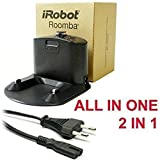 BASE DE RECARGA INTEGRATED HOME POR IROBOT ROOMBA CON ALIMENTADOR INCORPORADO ALL EN ONE 2 EN 1 SERIES 500 510 521 530 531 532 534 535 536 540 550 551 555 560 562 563 564 PET 565 570 572 577 580 581 590 600 610 620 625 700 760 770 780 800 870 880 11702 80501 80601 GD-Roomba-500 SP530-BAT VAC-500NMH-33 R3