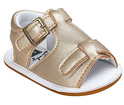 Sapatos Cor De Comprimento Crianças Antiderrapantes Dentro Walker Criança Sandálias Da Bebê Ouro Feliz 11cm Leather De Dos Únicos Sapatos Sapatos tamanho Suaves Bebé Cereja Pu Selecionável Verão Rastejando Sapatos HFq6awx7g6