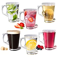 Direct Online Houseware Set of 6 Drinking Glasses for Coffee & Tea