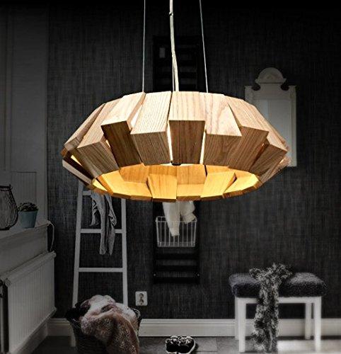 Europäischen Stil Wohnzimmer solide Holz Anhänger Lampe im japanischen Stil einfach kreative Esszimmer Lampen und Laternen Veranda Treppe leuchtet die amerikanischen Runden unter der Leitung von einem Wohnzimmerlampe - Japanische Laterne Leuchtet
