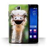 Stuff4® Hülle/Hülle für Huawei Honor 3C / Strauß/Emu Muster/Wilde Tiere Kollektion