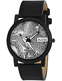 RELISH RE-S8063BB Black Slim Analog Watches For Men's And Boy's