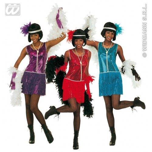 Mob Kostüm Italienische - WIDMANN Damen Deluxe Flapper-Kostüm, Größe XL (18-20), für 20er-/30er-Jahre, Mob Capone Bugsy Kostüm
