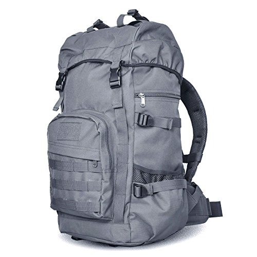 Esterno impermeabile usura doppia resistente borsa a tracolla alpinismo borsa multifunzionale camouflage zaino combinazione 60*35*24cm, jungle camouflage 55L Nero 55L