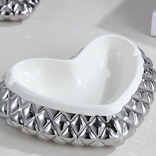 Amor cenicero de cerámica