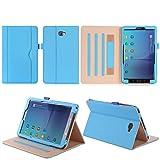 Tablet Fall Serie Premium PU-Leder Schutzhülle für Samsung Galaxy Tab A 10.1 Zoll SM-T580 T585 FHD WIFI 4G LTE Android Tablet PC(marineblau))