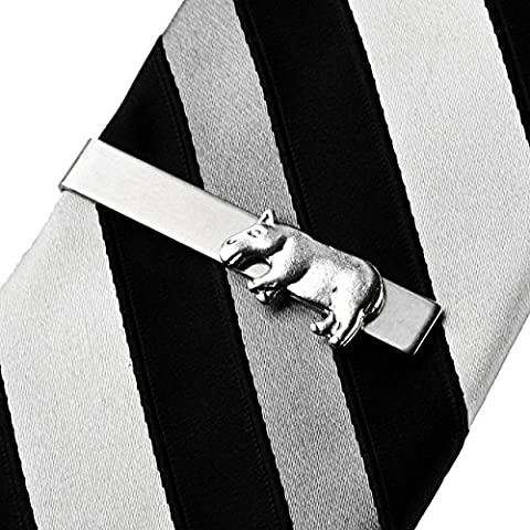 Hippo Tie Clip, Tie Bars , Best Man Accessories, Gifts