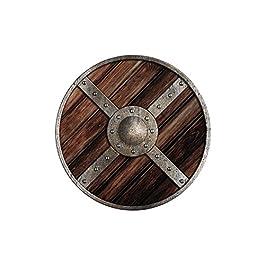 Holzspielerei 73804-2 – Scudo rotondo, in legno, ø 40 cm