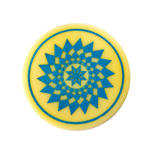 Indiavibes Carrom Board Striker Plastic Color With Design (Cyan)  available at amazon for Rs.199