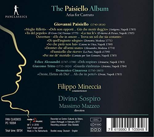 Paisiello Album/Airs pour Castrat