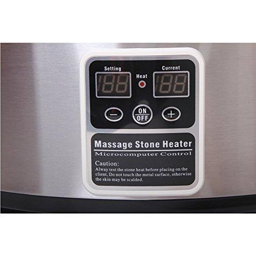 Promafit Hot Stone Massage Set Basic - Wärmegerät ca. 5,5 Liter + 45 Steine groß und klein - Heiße Steine Set für die Wärmebehandlung aus Basalt - Bild 2