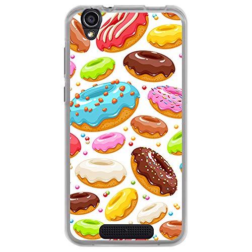 BJJ SHOP Transparent Hülle für [ Cubot Manito ], Klar Flexible Silikonhülle, Design: Süße Doughnuts mit Glasur und Chips