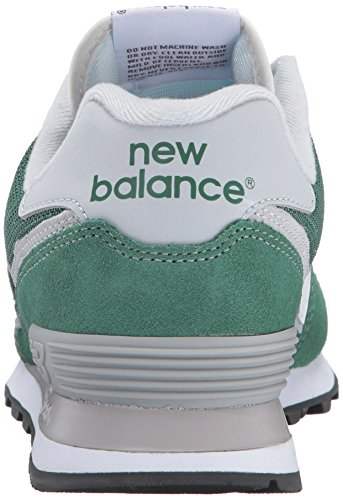 New Balance Men's ML574 Core Plus Fashion Sneaker Hunter Green/White