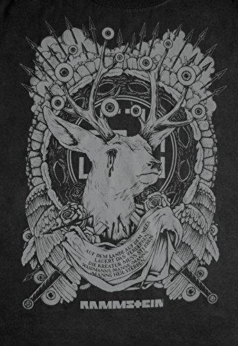 """Rammstein, T-Shirt """"Waidmann's Heil"""" Grau"""