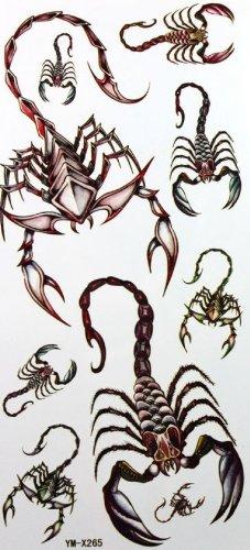 Étanche tatouage de couleur autocollants scorpion animal