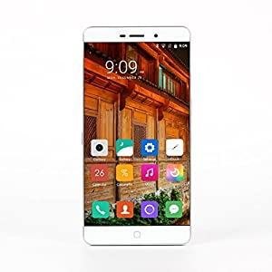 [Official Store] Elephone P9000 Smartphone 5.5 inch Unlocked FHD 1.6mm Ultra Narrow Bezel 4G LTE Android 6.0 Helio P10 Octa Core MTK6755 2.0GHz Touch ID 4GB RAM 32GB ROM Sony Dual Cameras 8MP 13MP - White