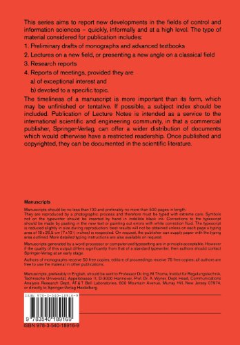 Structural Analysis and Design of Multivariable Control Systems: An Algebraic Approach (Lecture Notes in Control and Information Sciences)