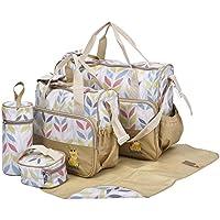 Bolsas para pañales impermeables con aislamiento térmico laminadas, conjunto de 5 piezas