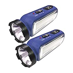 24 Energy Torch Cum Emergency Light Set of 2 Rechargeable Emergency Torch