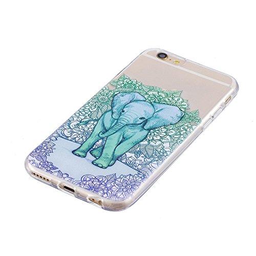 iPhone 6 Hülle,iPhone 6S Hülle,iPhone 6S / 6 Schutzhülle Case,SpiritSun TPU Silikon Schutzhülle Case Hülle für iPhone 6S / 6,Durchsichtig Muster Handyhülle iPhone 6S / 6 Silikon Hülle [Kristallklar Du Elefanten