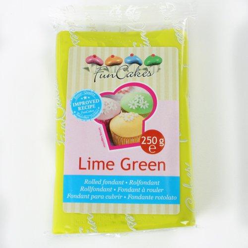 Funcakes Rollfondant in vielen verschiedenen Farben -250g- (Lime Green) -