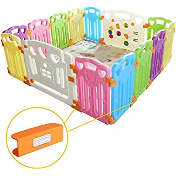 Plastic Baby Playpen with Activity Panel with Play Mats Included