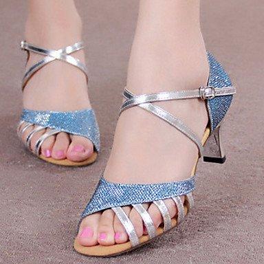 Chaussures De Danse-non-personnalisable-pour Les Femmes-latino-américaine Dance-square-brillantini-silver / Golden Silver