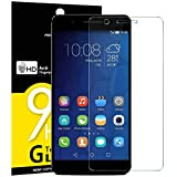 VERRE TREMPE HUAWEI HONOR 6 PLUS, NEWC® Film Protection en Verre trempé écran Protecteur Ultra Résistant Dureté 9H Glass Screen Protector (0,25mm HD Ultra transparente) pour HUAWEI HONOR 6 PLUS