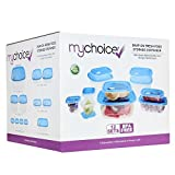 12 piezas de recipientes para almacenamiento de alimentos con tapa hermética MyChoice Snap-On con - A prueba de fugas, seguro para su uso en el microondas, congelador y lavavajillas