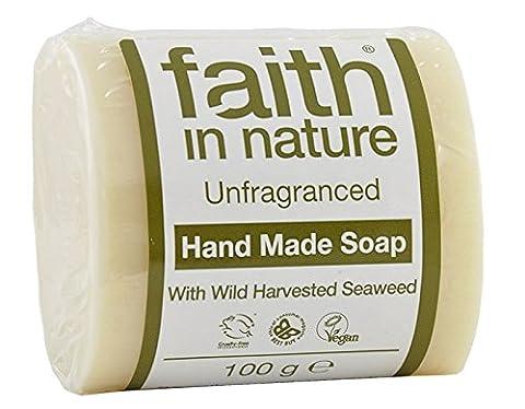 1 x 100 g Bar of Faith in Nature Soap (Unfragranced (Seaweed)) plus 1 Inspirational Fridge Magnet