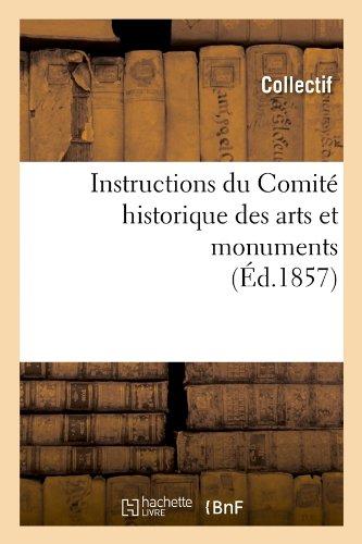 Instructions du Comité historique des arts et monuments (Éd.1857)