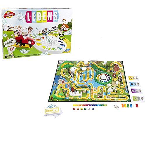 Hasbro - Das Spiel des Lebens, Klassiker unter den Familienspielen, ab 8 - Ohne Geld Monopoly