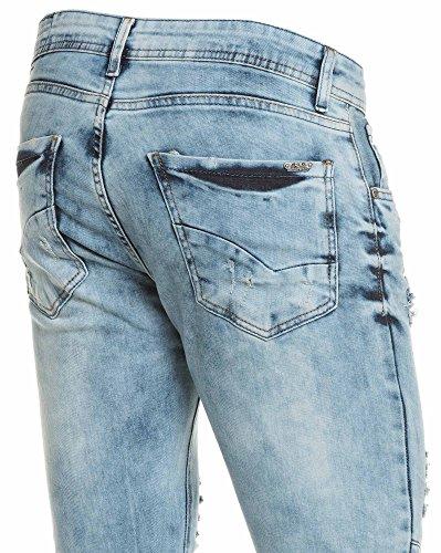 BLZ jeans - Jean blau Recht großen Auswaschung Blau