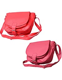 Stalkers COMBO Of Slingbags(Pink AND Red) (Combo)