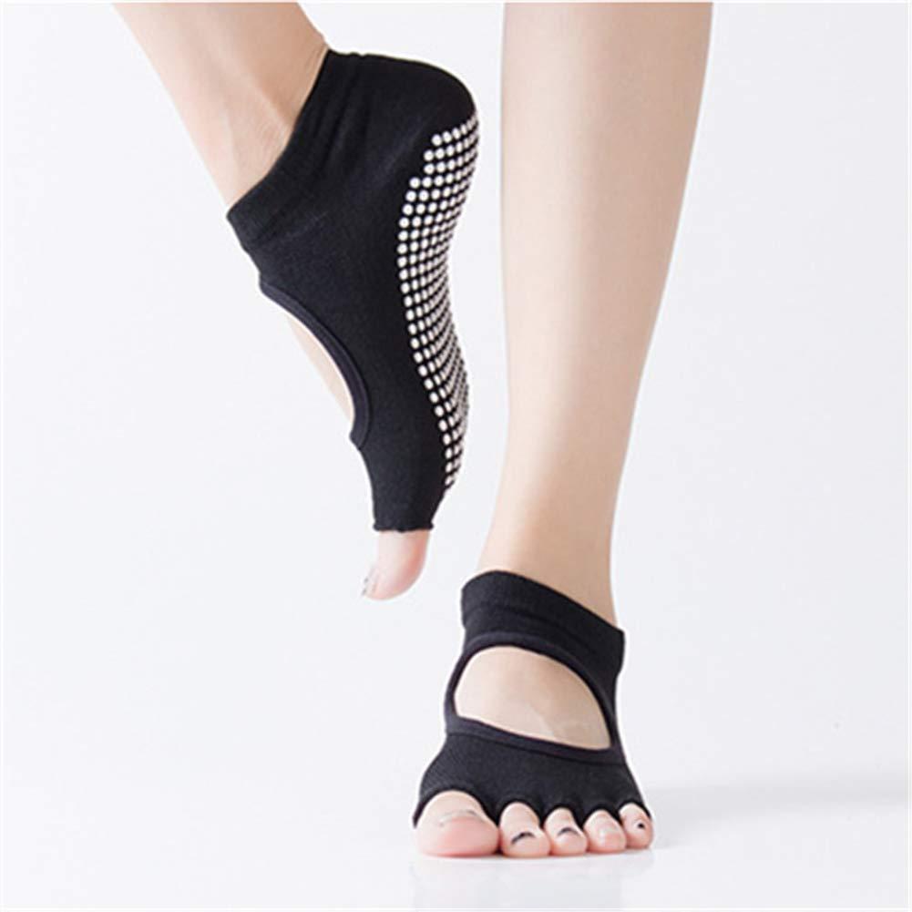 MXYXY Yoga-Socken, Rutschig, Undicht, Finger-to-Toe-Yoga-Socken, Sport, Fünf-Finger-Socken, Männer Und Frauen, Fitness…