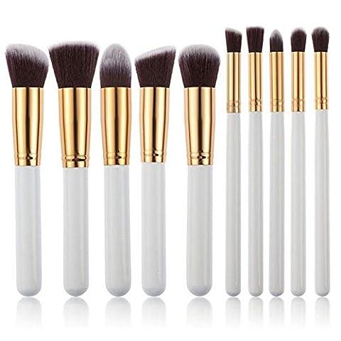 CDC® 10pcs Kabuki Kits Brosse Maquillage Cosmetic Brushes poignée Fondation