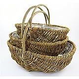 Kartoffelkorb Bügelkorb 42 cm Set à 3 Stück Dekokorb