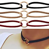 - 51BmldXqdxL - AllRight Vintage Gothic Velvet Choker Charm Women Handmade Necklace Multicolour Set